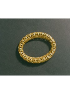Filgree Oval Ring  35x28mm  Raw