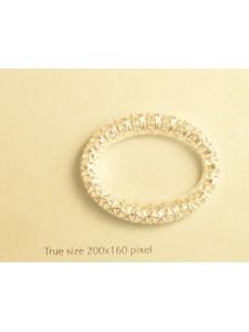 Filgree Oval Ring  35x28mm  Silver