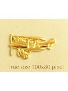 Biplane Charm Gold Plated