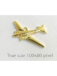 Airplane Charm Gold Plate