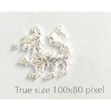 Dragon Charm Silver Plated
