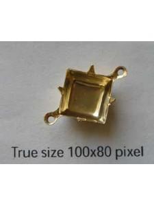 Setting Square 10x10mm 2-ring GP