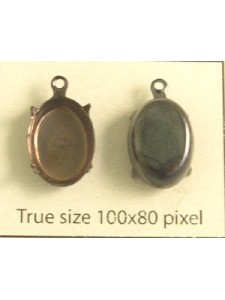 Setting 12x10mm Oval CB 1 ring Antiqued