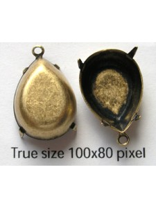 Setting 18x13mm Pear CB 1 ring Anti Bras