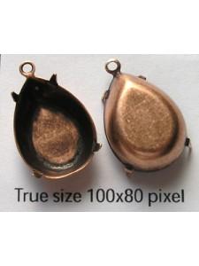 Setting 18x13mm Pear CB 1 ring Ant Coppr