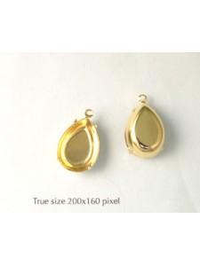 Setting 18x13mm Pear CB 1 ring Gold plat
