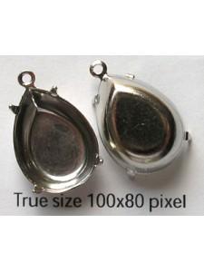 Setting 18x13mm Pear CB 1 ring Nickel Pl