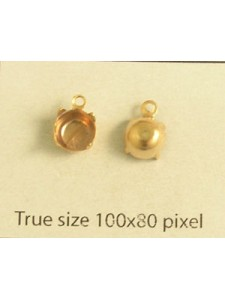 Setting for 1028 SS30 1-Ring Gold Plated