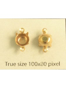 Setting for 1028 SS35 2-Ring Gold Plated