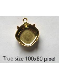 Setting for 4470 12mm CB 1-rings Gold Pl