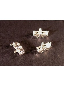 Setting for 4501 7x3mm 4-holes Silver Pl