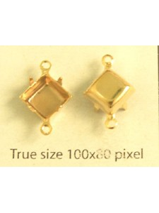 Setting for 4400 8x8mm 2-Ring Gold Plate