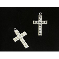 Cross w/ring 24x16mm (PP19) Silver plate