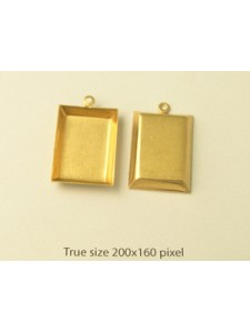 Rectangle Frame ~22x16mm 1-ring RAW
