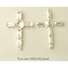 7 stone Sett'g (Rd&Nav) Cross 38mm SP