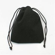 Velvet Pouch 8.5x7cm Black
