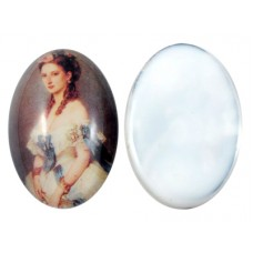 Cabochon Oval Lady 18mm X 13mm