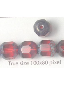 CZ Tube 10mm Ruby With Stone effect