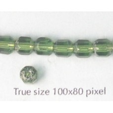 CZ Tube 6mm Olive with Stone effect