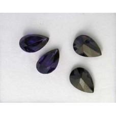 CZ AAA Pear 9x6mm Violet -per 4 pcs