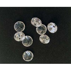 Cubic Zirconia White 5.50mm Round -10pcs