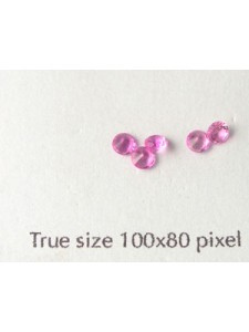 Synthetic Gemstone 3mm Round Pink Ruby