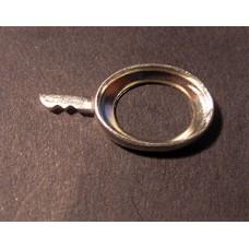 Fine Silver 10x14mm Oval w/tongue - EACH