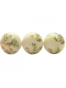 Decal bead plastic 16mm Round Colour 06
