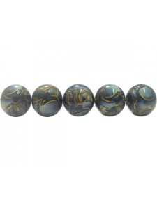 Decal bead plastic 10mm Round Colour 33