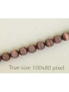 Cats Eye Bead Round 4mm Dark Purple