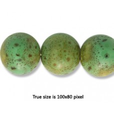 Ceramic Round Bead 12mm  Antique Green