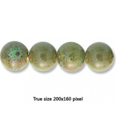 Ceramic Round Bead 16mm  Antique Green
