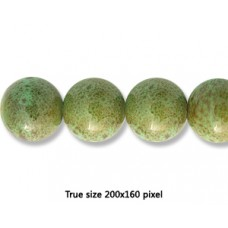 Ceramic Round Bead 18mm  Antique Green