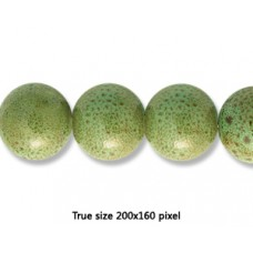 Ceramic Round Bead 20mm  Antique Green