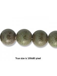 Ceramic Bead 10mm Antique Dark Green