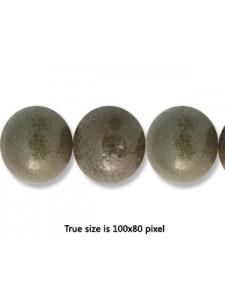 Ceramic Bead 12mm Antique Dark Green