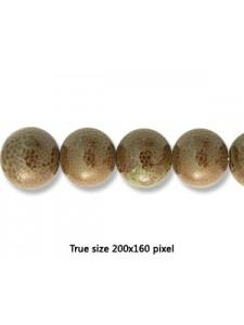 Ceramic Bead 16mm Antique Dark Green