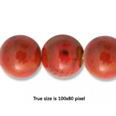 Ceramic Round Bead 12mm  Antique Red