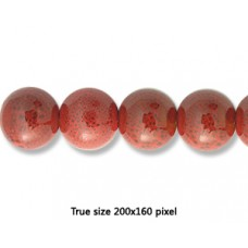 Ceramic Round Bead 16mm  Antique Red
