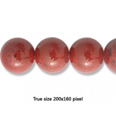 Ceramic Round Bead 20mm  Antique Red