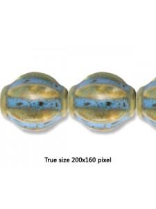 Ceramic 22x28mm 6-sided Antique Aqua