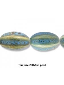 Ceramic 20x30mm 6-sided Antique Aqua