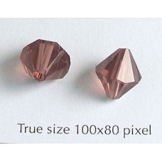 Chinese Bi-cone Bead 10mm Mid Amethyst