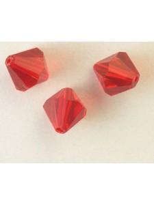 Chinese Bi-cone Bead 10mm Siam Red
