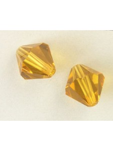 Chinese Bi-cone Bead 12mm Gold