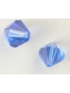 Chinese Bi-cone Bead 12mm Mid Sapphire