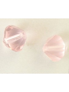 Chinese Bi-cone Bead 12mm Pale Rose