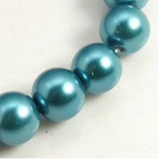 Glass Pearl 4mm Round Teal ~215