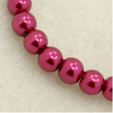 Glass Pearl 6mm Round VioletRed ~140 pcs
