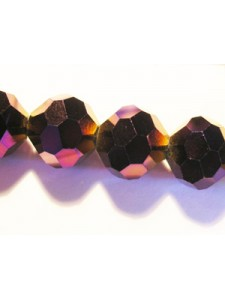 Glass Rd Faceted 10mm Indigo AB 12in str